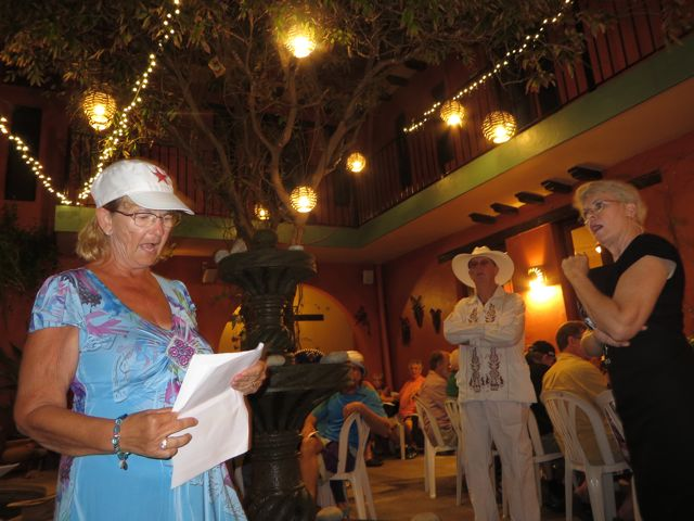 I got to play the part of Sharon, the owner of a B&B in Mazatalan,