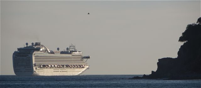 In fact we had two large ships in yesterday.  The beach has been very busy all week.  Evidence of spring break.