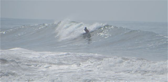 But there are several surfers out there as well.