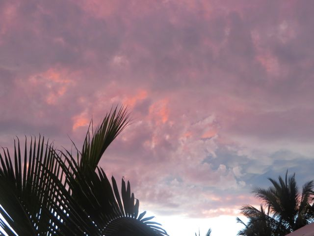 I can't recall ever seeing such a colorful sky at this time of day on the Isla.