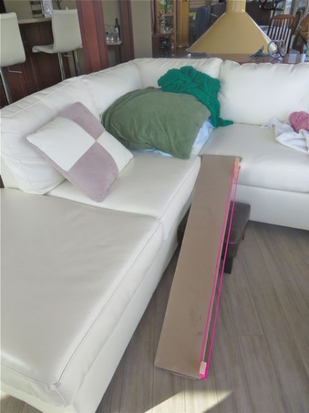 There is also a ramp going up to our bed and hers it the 4th, up to the sofa where they like to sit on that pile of pillows and blankets.  Just a tad spoilt I think.