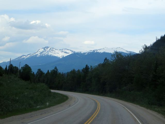 Our first view of the Rockies.