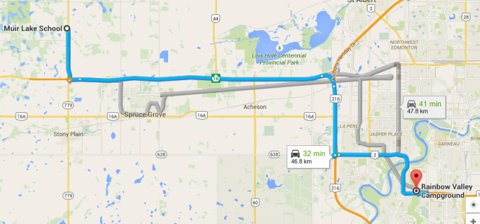 We had a whopping 48KM to drive