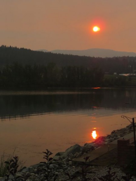 This was yet another smokey sunset.