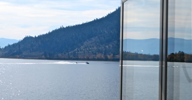 Each day that the sun shines there are one or two water skiers out on the lake.