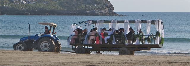 A special ride to the event.  These folks came across from Mazatlan by lancha.