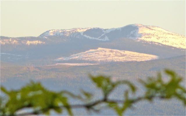 This was taken May 2nd and that snow was 3/4 's melted until today. The rain at higher elevations means snow.