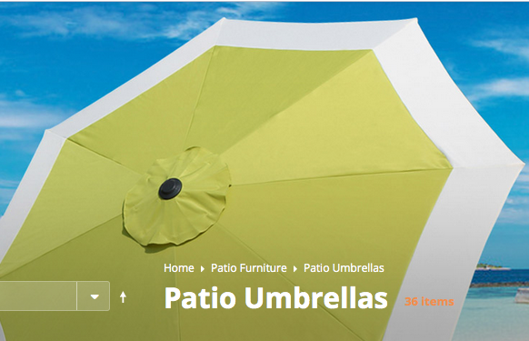 This is an online photo of the new patio umbrellas. Sadly since we got them it has been too windy and cold to put them out not to mention the rain.