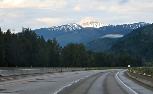 The forecast included rain showers and we had our share but it wasn't a bad drive into Vancouver.