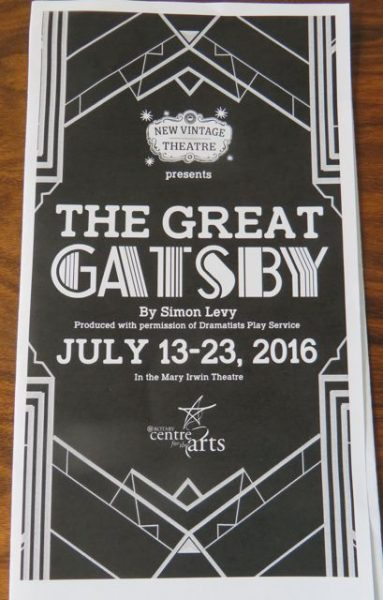 So I was excited when I saw that the Great Gatsby was being performed.