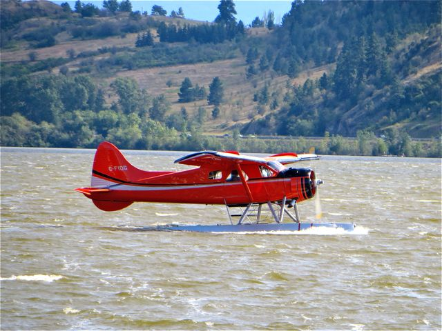 Last week we had a float plane land on the lake. It was extremly windy and the waves were substantial.
