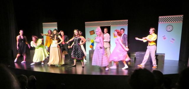 The play was superb. This is Act Two, at the prom.