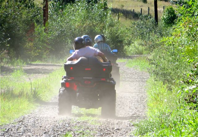 The trail is not open yet but many are using it including these ATV's which are NOT allowed on the trail.