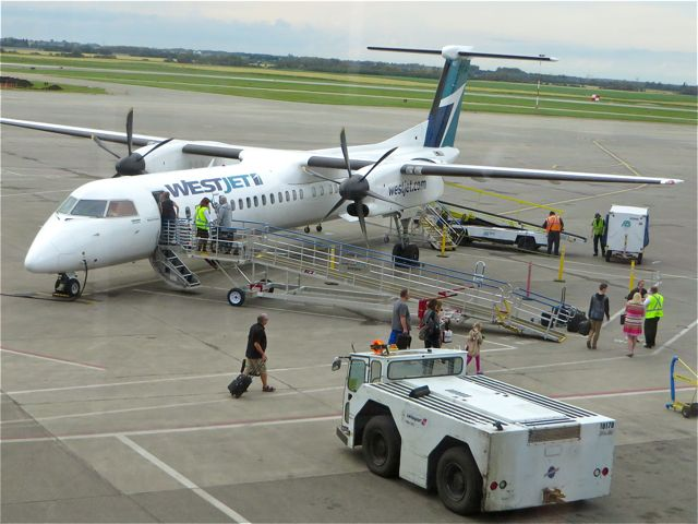However yesterday, perhaps because it was a Saturday I was traveling i on a Bombardier Q400