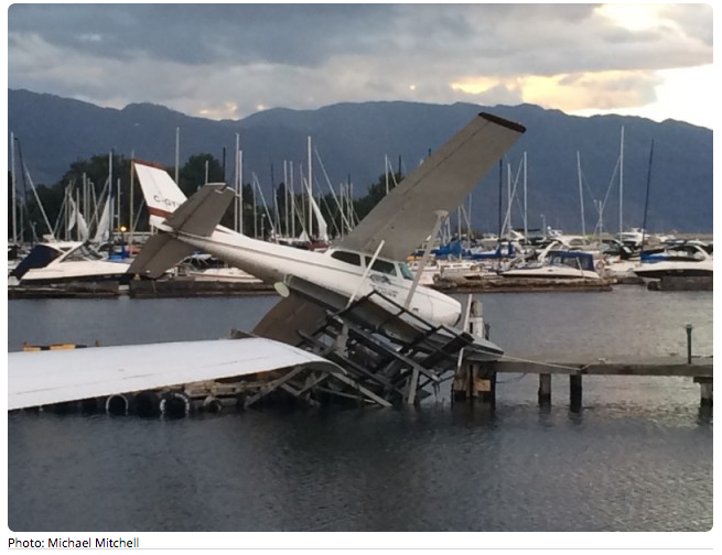 Even a float plane was thrashed. sadly this is the one Colin is supposed to use to do some arerials next week.