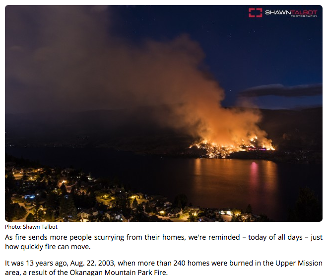 However just before 11 PM a fire started jsut acorss the lake
