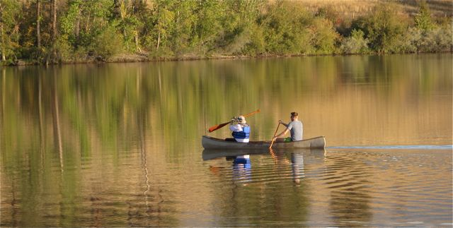 I started to tear up when I saw this canoe. The lady in the front paddles with her husband almost everyday. T
